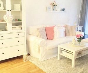 pink, rooms, and white image