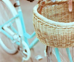 bike, bicycle, and blue image