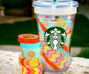 coffe, colorful, and desing image
