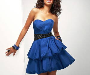 homecoming dress, blue prom dress, and short prom dress image