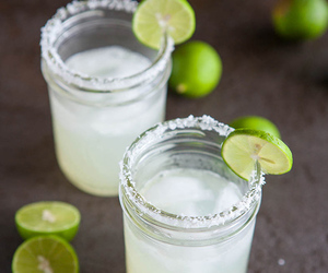 cocktail, lime, and margaritas image