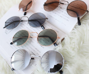 sunglasses, fashion, and glasses image
