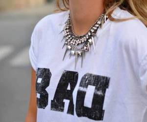 bad, necklace, and shirt image