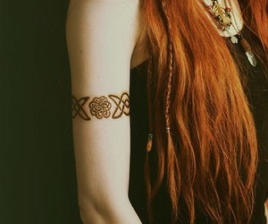 tattoo, hair, and celtic image