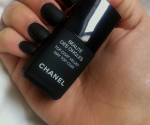 nails, chanel, and black image