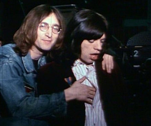 john lennon, mick jagger, and the beatles image