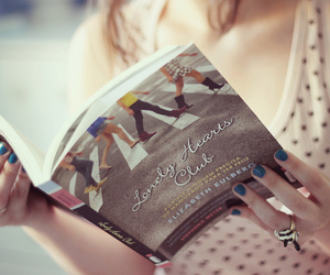 book, lonely hearts club, and woman image