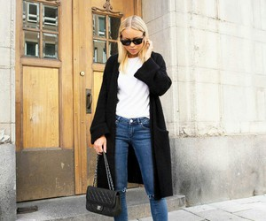 chic, style, and coat image