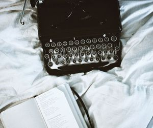 book, vintage, and typewriter image