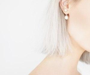 earing, girl, and minimal image