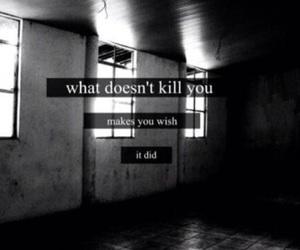 sad, kill, and text image