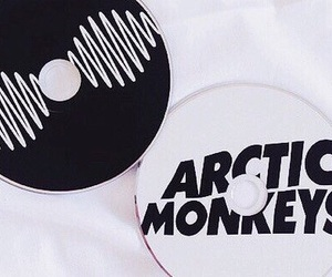 arctic monkeys, black and white, and am image