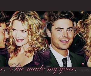 michelle pfeiffer, premiere, and zac efron image