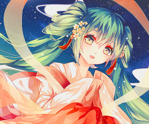 anime, dress, and hatsune miku image