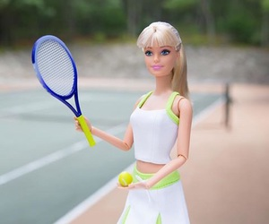 barbie, tennis, and sport image