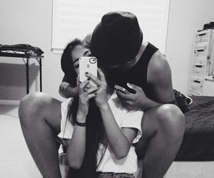 black and white, couple, and Relationship image