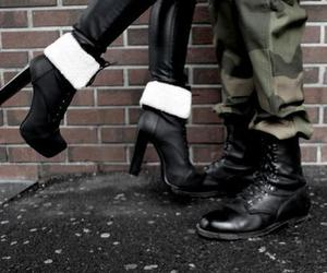 couple, shoes, and military image