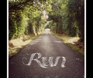 road, summer, and run image