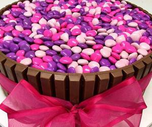 food, pink, and chocolate image