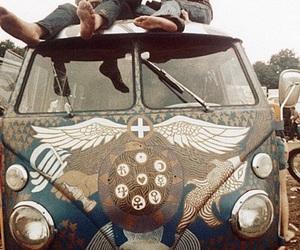 hippie, woodstock, and hippies image