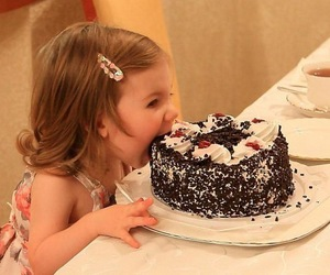 cake, baby, and chocolate image