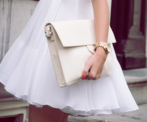 clutch, outfit, and fashion image