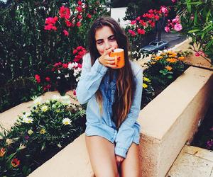 girl, beautiful, and breakfast image