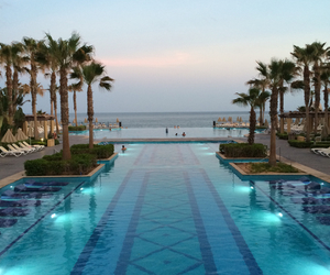 beach, hotel, and pool image