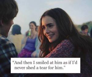 smile, quote, and sad image