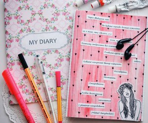 diary, inspiration, and notebooks image