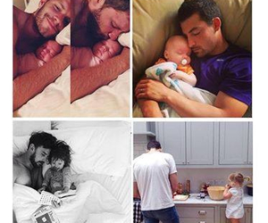 baby, dad, and daddy image