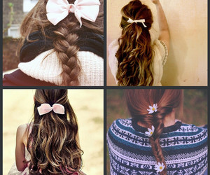 bow, braid, and photography image