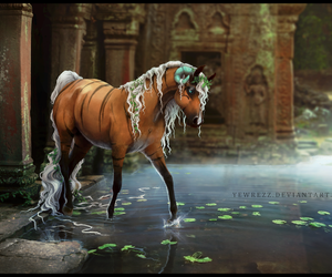 fantasy, horns, and horse image