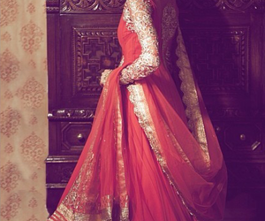 dress, indian, and red image