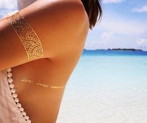 beach, tattoo, and summer image