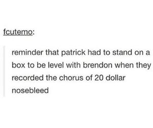 brendon urie, fall out boy, and funny image