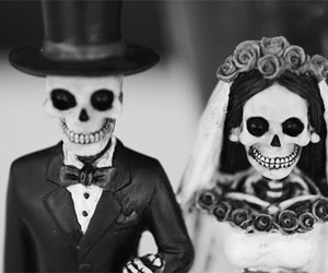 b&w, bride, and weird image