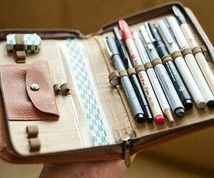 pen, pencil, and vintage image