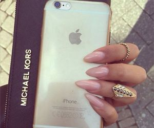 luxury, nails, and iphone image