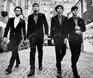 black and white, union j, and josh cuthbert image