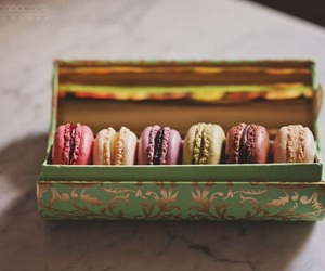 dessert, macaroons, and sweet image