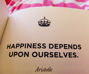 quotes, happiness, and aristotle image