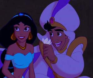 disney, aladdin, and jasmine image