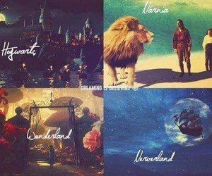 narnia, neverland, and wonderland image