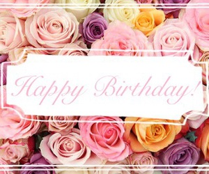 colors, flowers, and happy birthday image