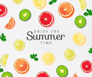 summer, fruit, and wallpaper image