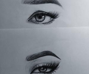 drawing, eye, and sad image