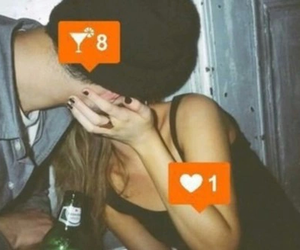 drunk, kiss, and party image