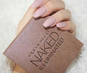 makeup, nude nails, and cute image