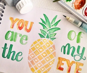 pineapple, art, and cute image